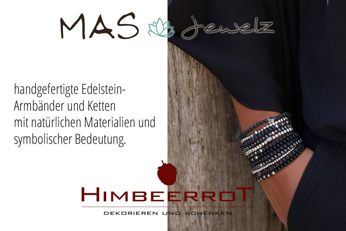 Schmuck-Collage-Himbeerrrot